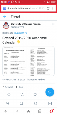 UNICAL revised academic calendar for 2019/2020 session