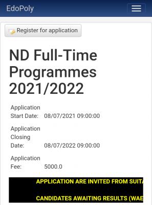 Edo Poly Post-UTME 2021: Eligibility and Registration Details