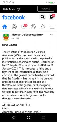 NDA disclaimer notice