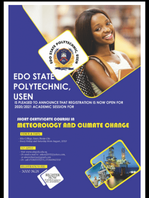 Edo Poly Meteorology and Climate Change Short Course admission, 2020/2021