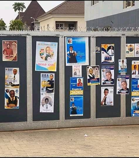 Abuja Primary School Pupil Print Posters To Vie For Head Boy and Head Girl Position.
