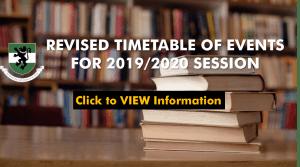 UNN revised academic calendar for 2019/2020 session