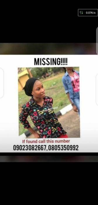 TASUED Undergraduate Reported Missing