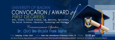 UI convocation ceremony for first degree graduates