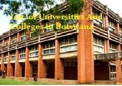 List of Universities in Botswana