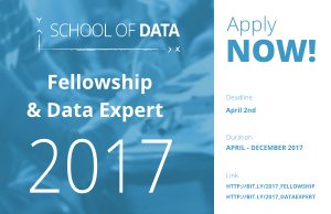 2017 School Of Data Fellowship For Data Enthusiasts