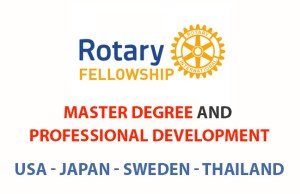 100% Rotary Peace Fellowship For Masters & Professional Programs