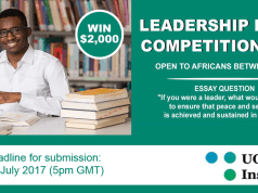 UONGOZI African Leadership Essay Competition - Fully-funded To Johannesburg, South Africa