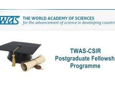 2017 TWAS-CSIR Postgraduate Fellowship Program - India