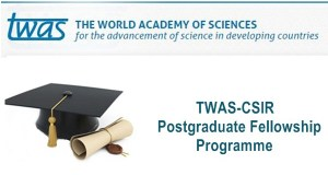 2017 TWAS-CSIR Postgraduate Fellowship Program - India