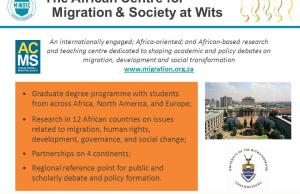 Two Scholarships to Study Migration & Displacement At ACMS - South Africa