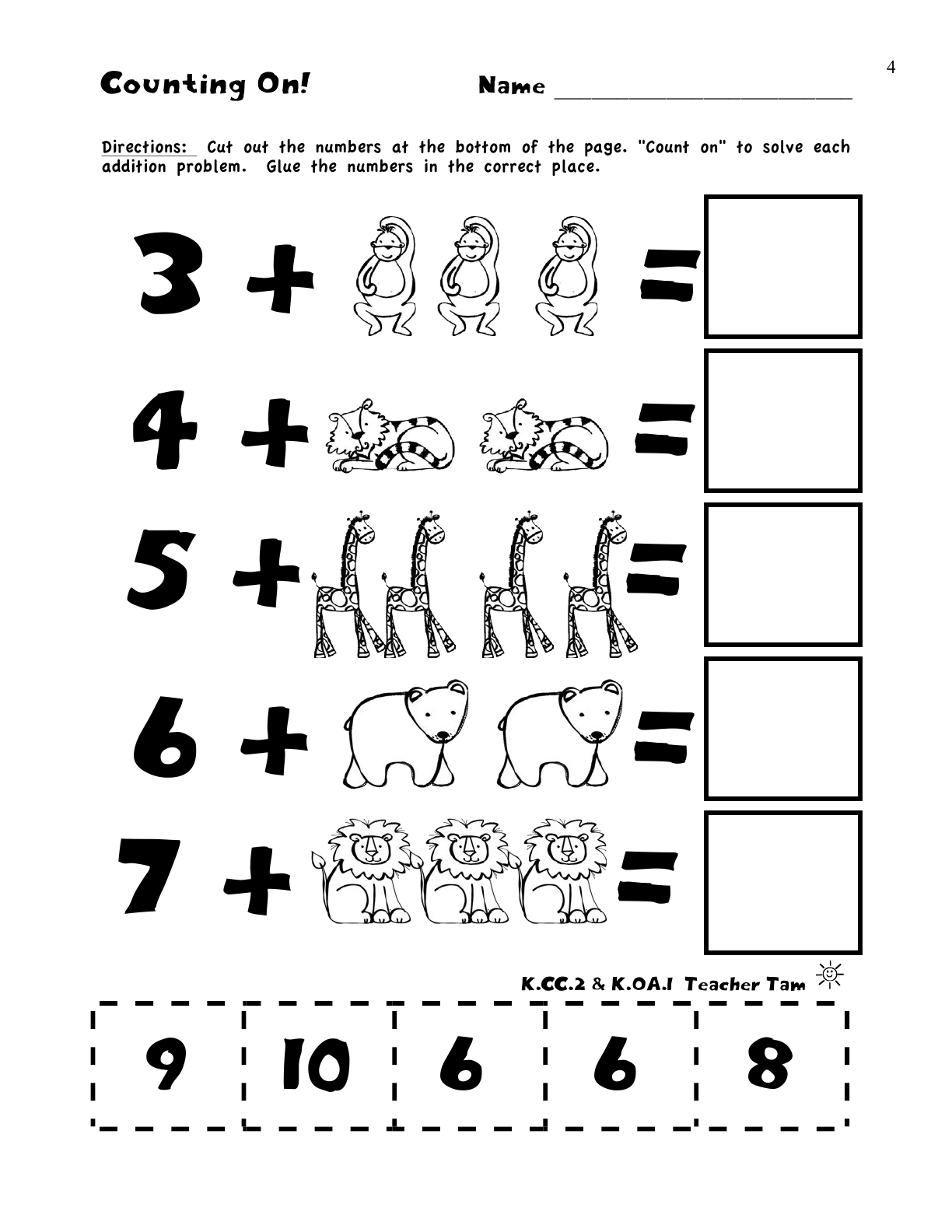 Preschool Worksheet Gallery Counting Addition
