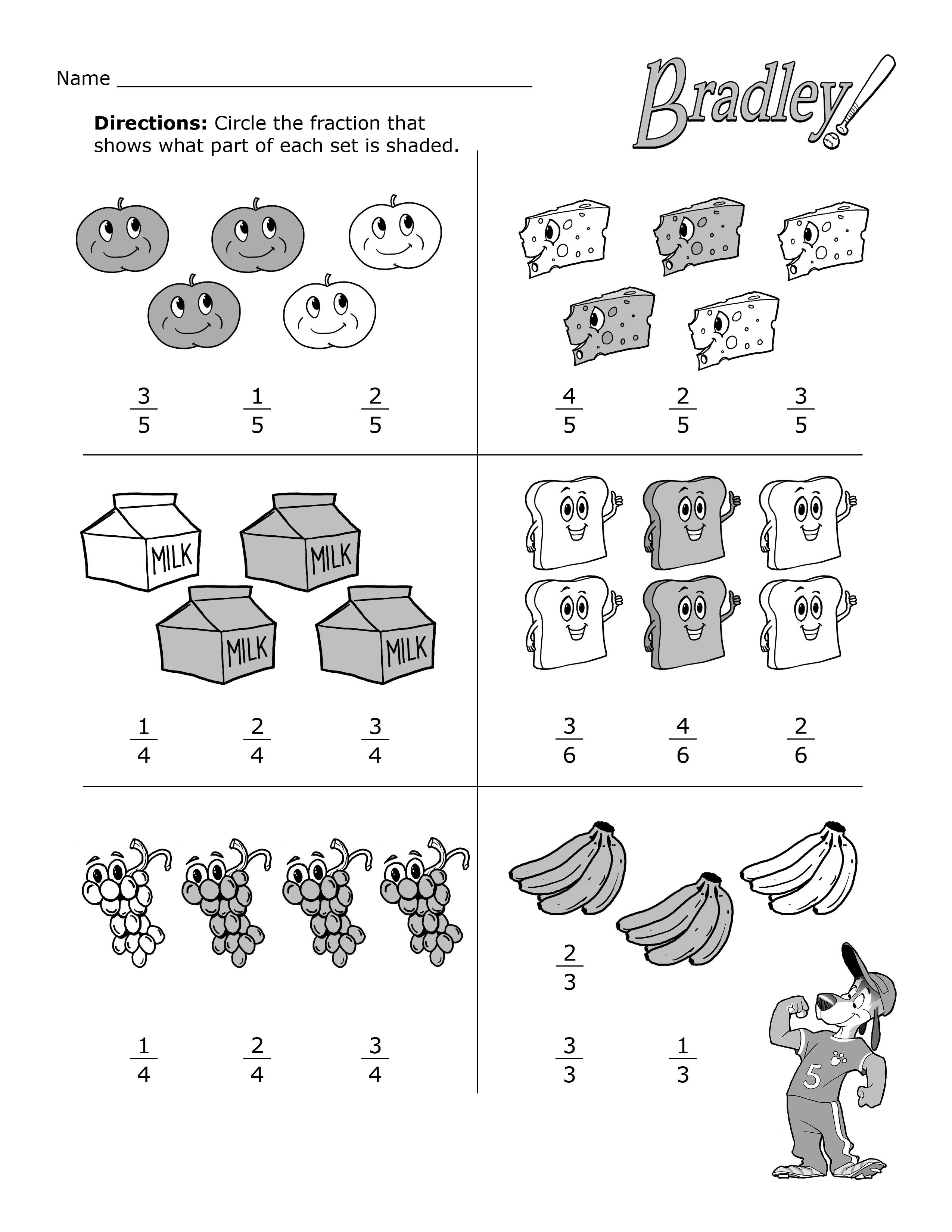 Beginning Fractions Practice