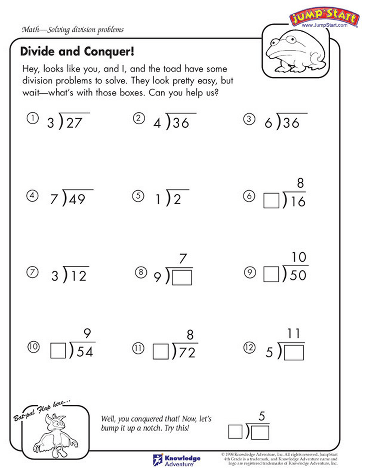 Kumon Worksheet Grade 5 Division