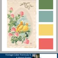 Vintage Color Formulas: Happy Easter- Crafty Color Palettes