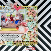 Budget Scrapbooking with Double Sided Patterned Papers- Off to the Side
