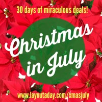 It's Christmas in July with Layout A Day!