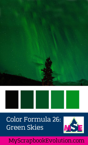 Color Formula 26 -Green Skies- a crafty color palette from my scrapbook evolution