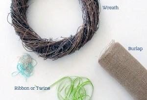 Meowy Christmas Wreath supplies