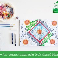 In My Art Journal: Sustainable Souls Stencil Mandala