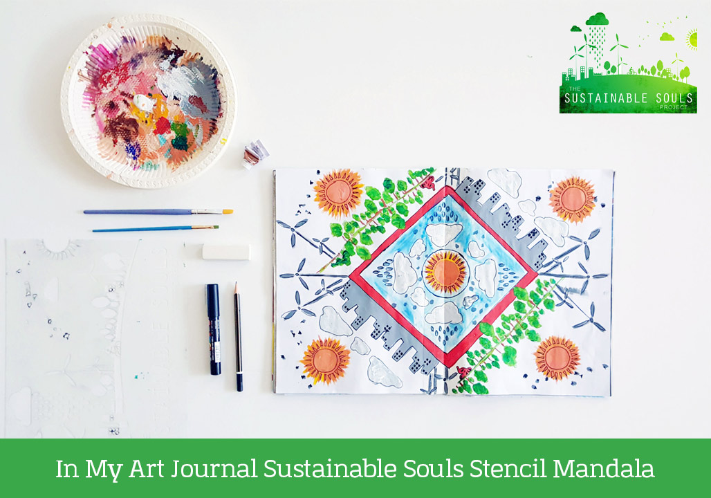 In My Art Journal Sustainable Souls Stencil Mandala