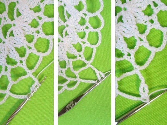 Virkade servetter för nybörjare