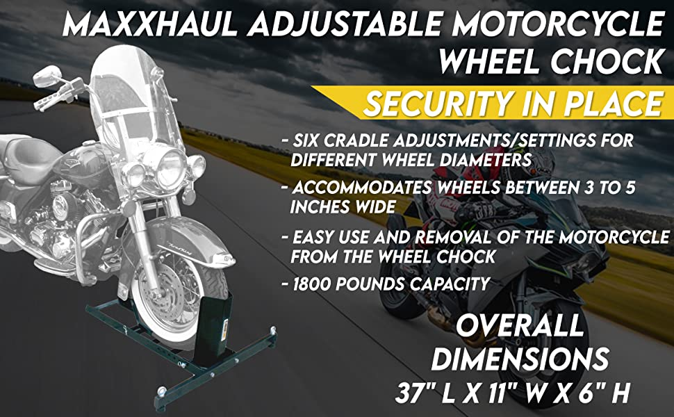 MaxxHaul 70271 Adjustable Motorcycle Wheel Chock