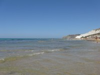 Looking south out at the Mediterranean from la Scala dei Turchi