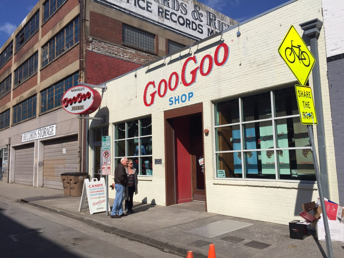 The Goo Goo Shop off Broadway is the home of the famous Goo Goo Cluster