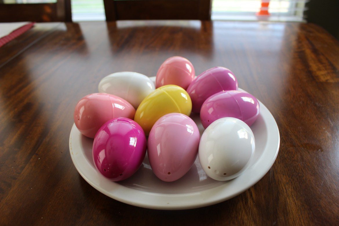 Use large plastic Easter Eggs to form Rice Krispie Eggs