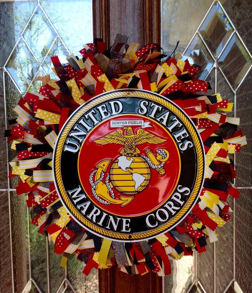 United States Marine Corps Ribbon Wreath