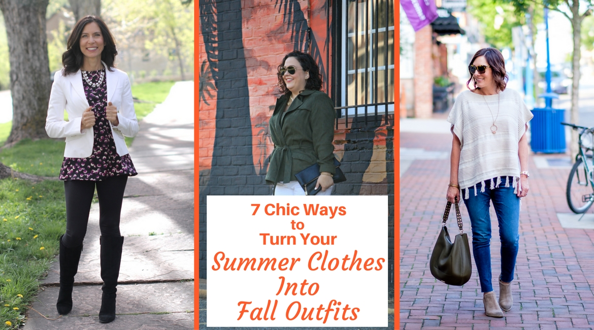 7 Chic Ways to Style Your Summer Clothes Into Fall Outfits | #summer to fall transition outfits | summer to fall outfits | summer to fall casual outfits | summer to fall work outfits | white pants outfit fall | dark florals fashion | dark florals outfit | military vest | vests | wide legged pants | wide legged pants outfit