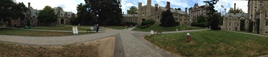 Rockefeller and Mathey Colleges with Blair Arch