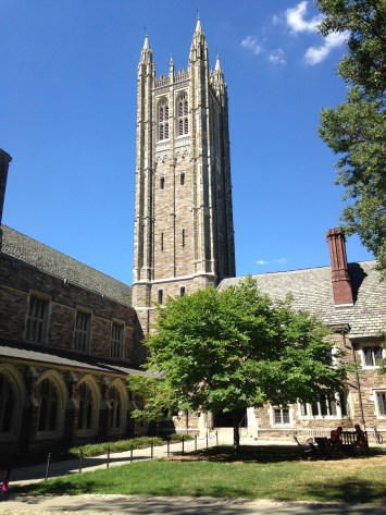 A tower by Rockefeller College