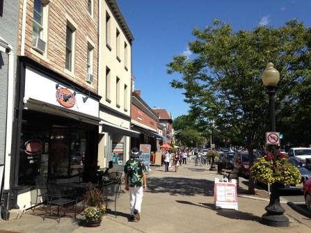 Shops along Nassau Street, the main drag for things outside of the University