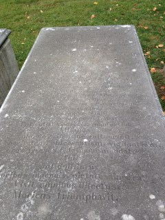 Samuel Finley's actual grave is in Philadelphia