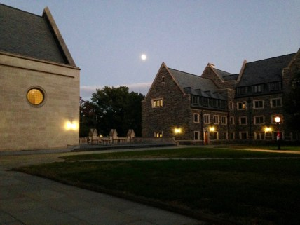 The Moon rises over Whitman