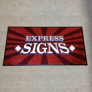 Custom Digiprint HD Logo Floor Mat Example - Express Signs
