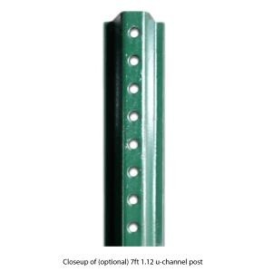 u-channel 1.12lb post 7ft