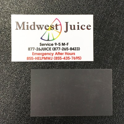 Magnetic Business Card Front and Back