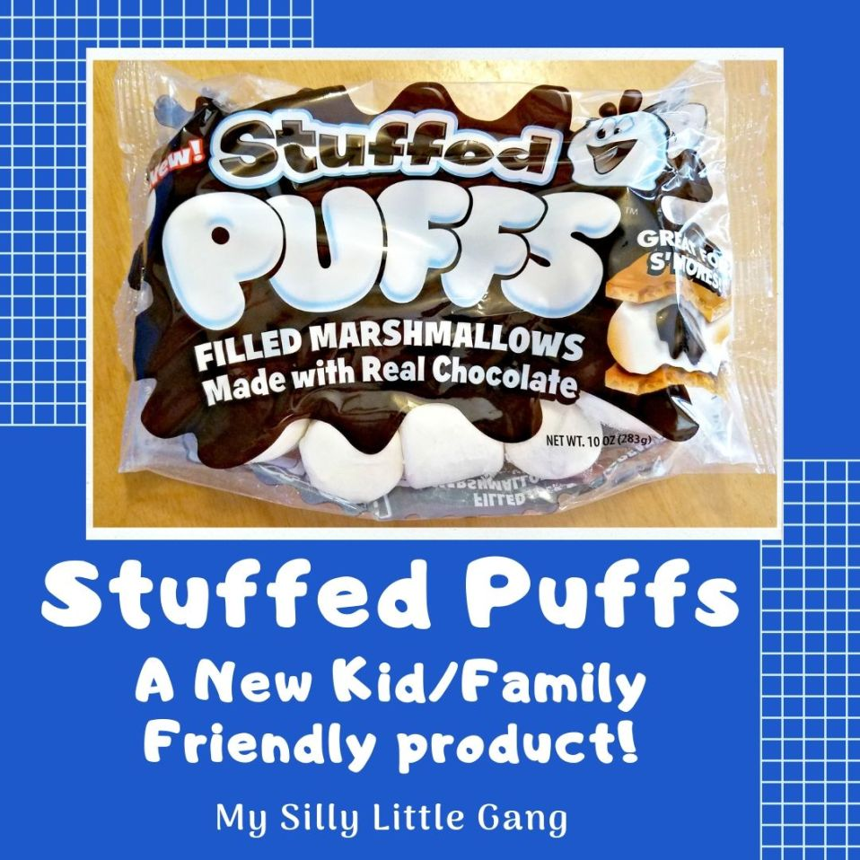 Stuffed Puffs ~ A New Kid/Family Friendly product! #stuffedpuffs #marshmallow #smores #MySillyLittleGang