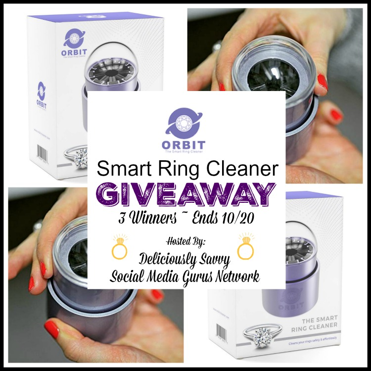 ORBIT ~ The Smart Ring Cleaner Giveaway ~ 3 Winners ~ Ends 10/20 @SMGurusNetwork @IGBBQ #MySillyLittleGang