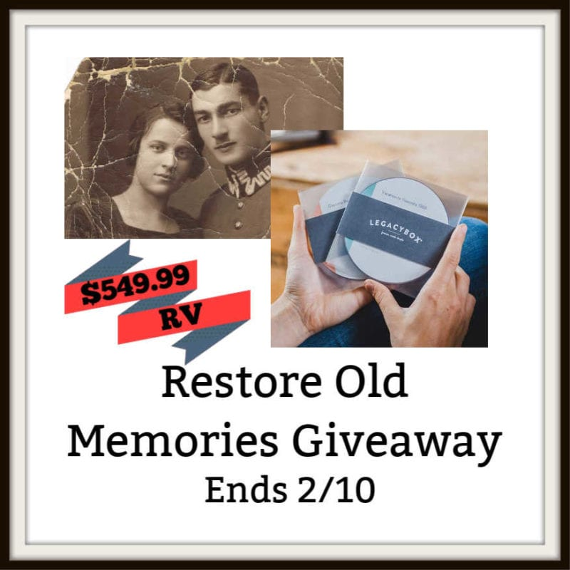 Restore Old Memories Giveaway ~ Ends 2/10 @legacybox @las930 #MySillyLittleGang