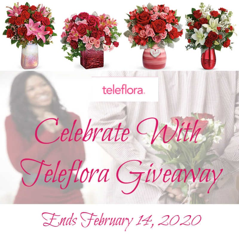 Celebrate With Teleflora Giveaway ~ Ends 2/14 #LoveOutLoud @las930 #MySillyLittleGang