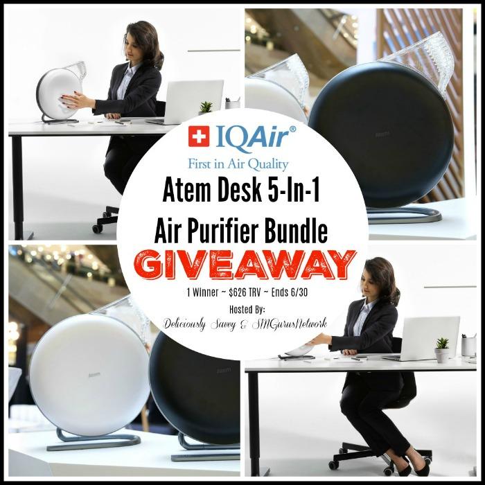 IQAir Atem Desk 5-In-1 Air Purifier Bundle Giveaway ~ Ends 6/30 @IQAir @DeliciouslySavv #MySillyLittleGang