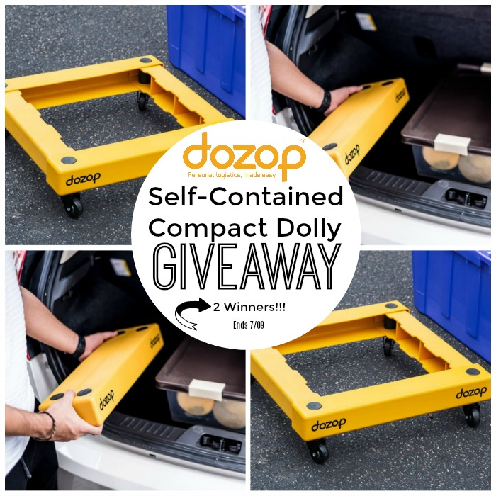 Dozop Self-Contained Compact Dolly 2 Winner Giveaway ~ Ends 7/9 @dozopit @deliciouslysavv #MySillyLittleGang