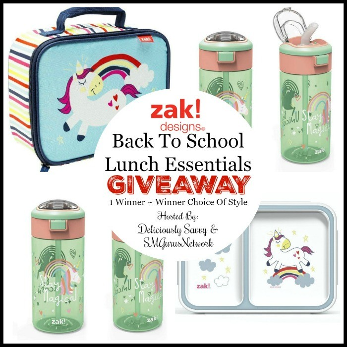 Zak! Designs Back To School Essentials For Lunch Giveaway ~ Ends 8/31 @zakdesigns @deliciouslysavv #MySillyLittleGang