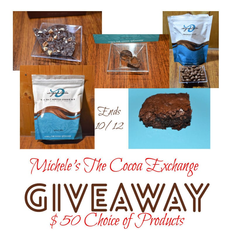 Michele's The Cocoa Exchange Giveaway ~ Ends 10/12 @mikihope @las930 #MySillyLittleGang