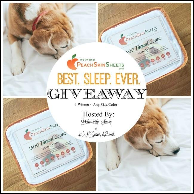 PeachSkinSheets BEST. SLEEP. EVER. Giveaway ~ Ends 10/30 @PeachSkinSheets @DeliciouslySavv #MySillyLittleGang