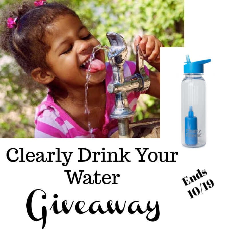 Clearly Drink Your Water Giveaway ~ Ends 10/19 @clearlyfiltered @las930 #MySillyLittleGang